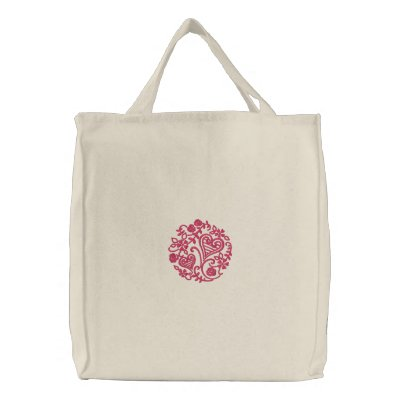 Simply Sweethearts Embroidered Tote Bag