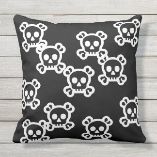 Simply Symbols - SKULL & BONES + your ideas Outdoor Cushion