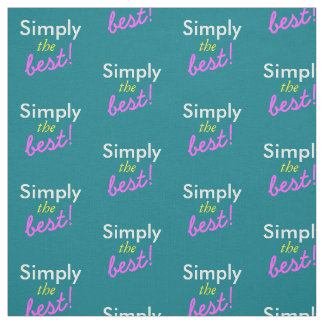 Simply text design / change in your ideas fabric