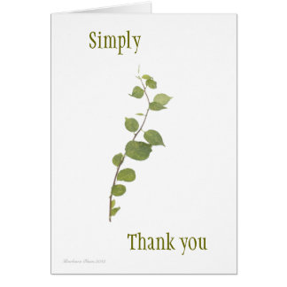 Simply Thank: Thank you card
