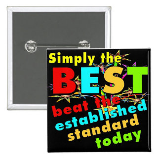 Simply the Best 15 Cm Square Badge