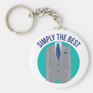 Simply The Best Basic Round Button Key Ring