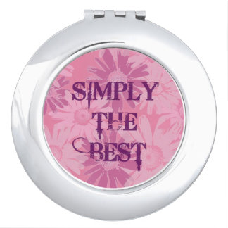 Simply the Best Floral Compact Mirror