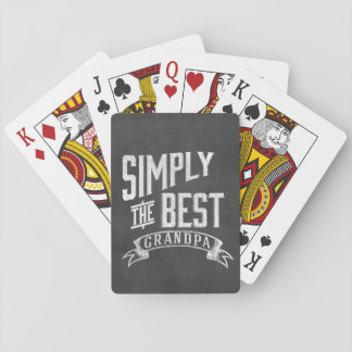 Simply the best Grandpa Playing Cards