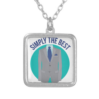 Simply The Best Square Pendant Necklace