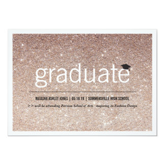 Simply Timeless Modern Glitter Graduation Photo 13 Cm X 18 Cm Invitation Card
