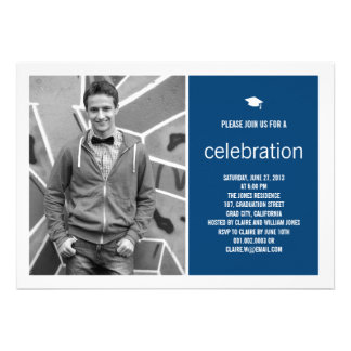 Simply Timeless Modern Graduate Graduation Photo Personalized Invite