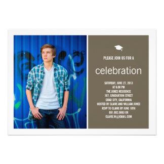 Simply Timeless Modern Graduate Graduation Photo Custom Invites