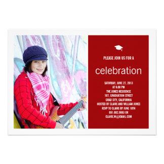 Simply Timeless Modern Graduate Graduation Photo Custom Invite