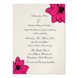 Simply Tropical Flowers On Gold 17 Cm X 22 Cm Invitation Card