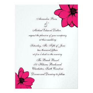 Simply Tropical Flowers On Ice Invitations