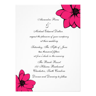 Simply Tropical Flowers On Recycled Custom Announcement