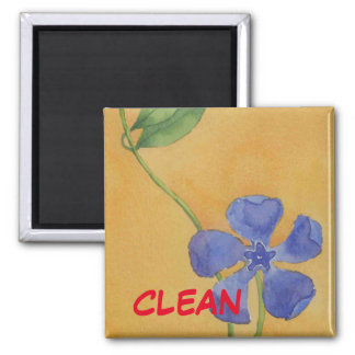 """Simply Vinca"" Clean Dishwasher Status Magnet"