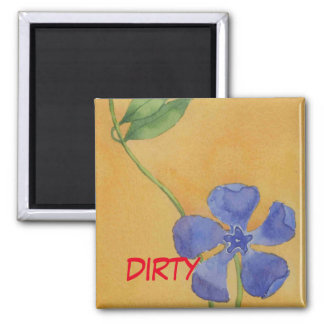 """Simply Vinca"" Dirty Dishwasher Status Magnet"