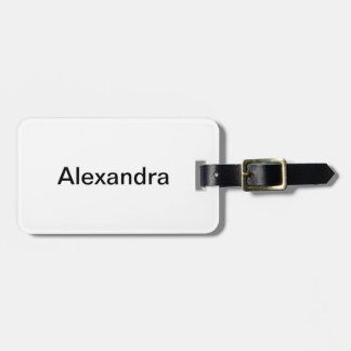 Simply White Solid Color Personalize It Custom Luggage Tag
