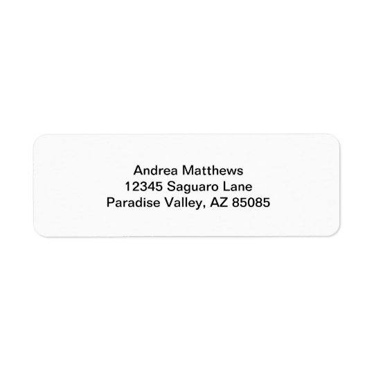 Simply White Solid Colour Personalise It Custom Return Address Label