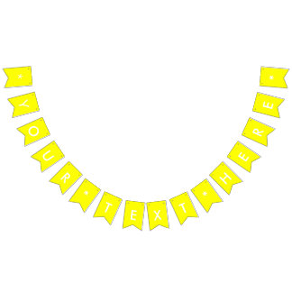 Simply Yellow Solid Color Customize It Bunting