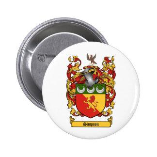 Simpson Crest - Coat of Arms 6 Cm Round Badge