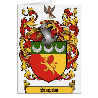 Simpson Crest - Coat of Arms Card