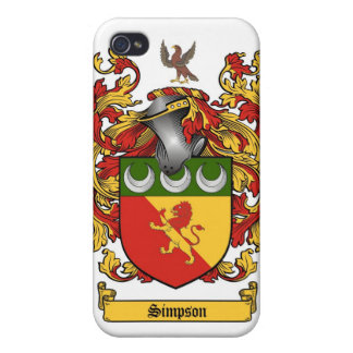 Simpson Crest - Coat of Arms cover iPhone 4 Cases