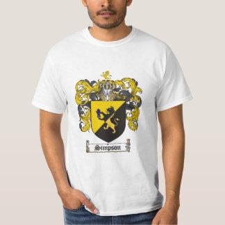 Simpson Family Crest - Simpson Coat of Arms T-Shirt