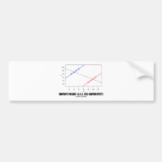 Simpson's Paradox (A.K.A. Yule-Simpson Effect) Bumper Sticker