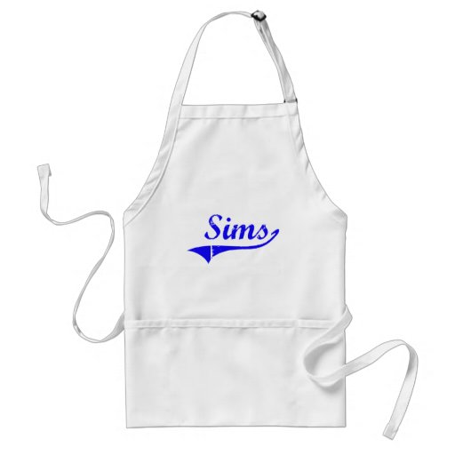 Sims Surname Classic Style Aprons
