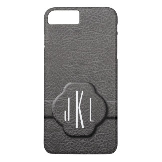 Simulated Charcoal Leather 3 Letter Monogram Case