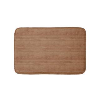 Simulated Cherry Wood Bath Mat