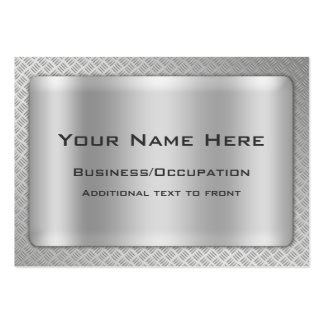 Simulated Diamond Cut Steel Plate Professional Pack Of Chubby Business Cards