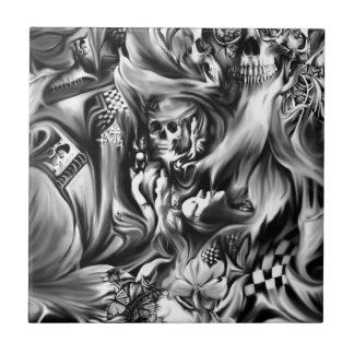 Sin and smoke melting skulls tile