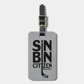 Sin Bin Citizen Hockey Bag Luggage Tag