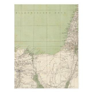 Sinai, Egypt, Syria Atlas Map Postcard
