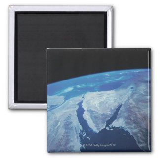 Sinai Peninsula from Space Square Magnet