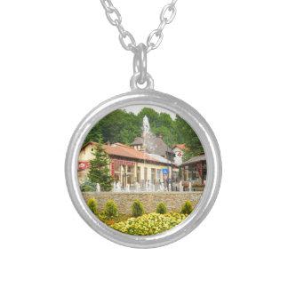 Sinaia, Romania Silver Plated Necklace