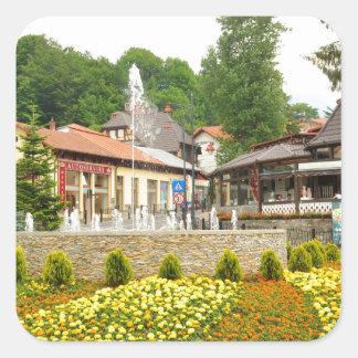 Sinaia, Romania Square Sticker