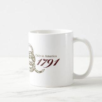Since 1791 Bill of Rights Basic White Mug