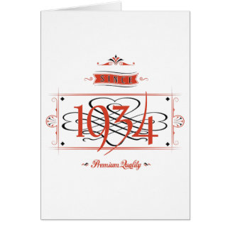Since 1934 (Red&Black) Card