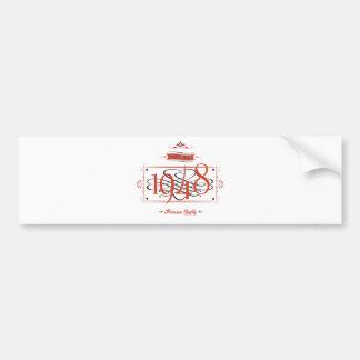 Since 1948 (Red&Black) Bumper Sticker