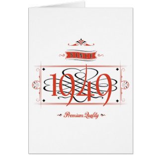 Since 1949 (Red&Black) Card