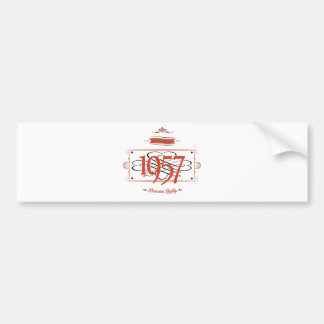 Since 1957 (Red&Black) Bumper Sticker