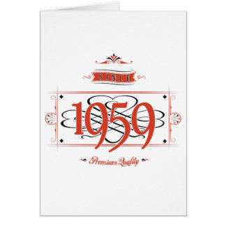 Since 1959 (Red&Black) Card