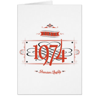 Since 1974 (Red&Black) Card
