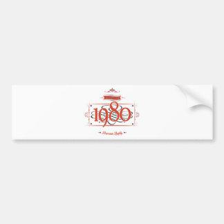 Since 1980 (Red&Black) Bumper Sticker