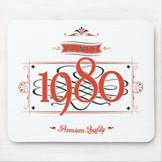 Since 1980 (Red&Black) Mouse Pad