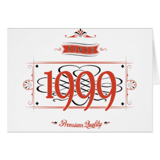 Since 1999 (Red&Black) Card