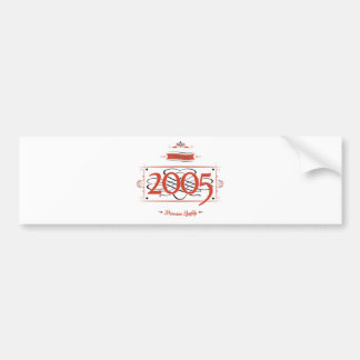 Since 2005 (Red&Black) Bumper Sticker