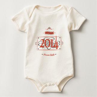 Since 2014 (Red&Black) Baby Bodysuit