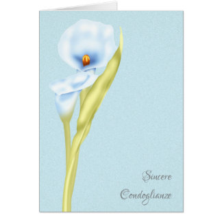 Sincere Condoglianze Italian Simply Stated Card