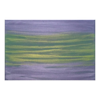 Sincere Original Handpainted Purple Green Abstract Photo Art
